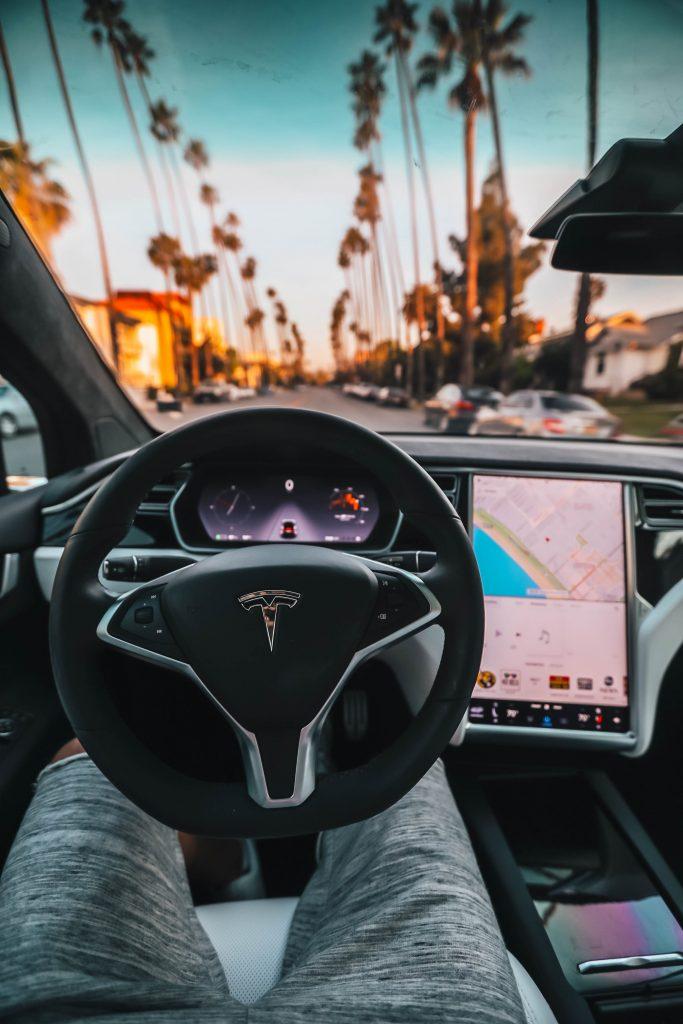 Driverless car console